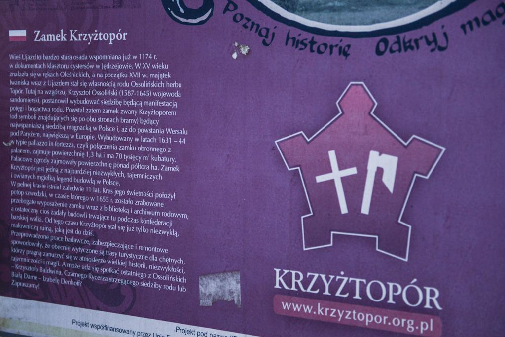 Zamek Krzyżtopór, tablica informacyjna