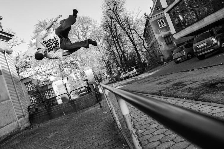 Sportowa fotografia Bielsko-Biała: Parkour