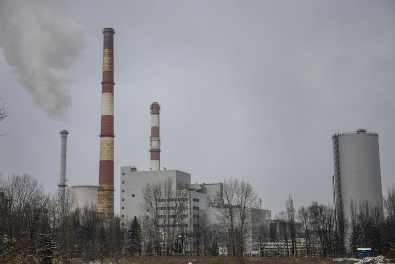 Widok naelektrociepłownię wBielsku-Białej