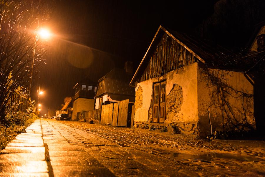 Kazimierz Dolny nadWisłą, ul.Puławska nocą