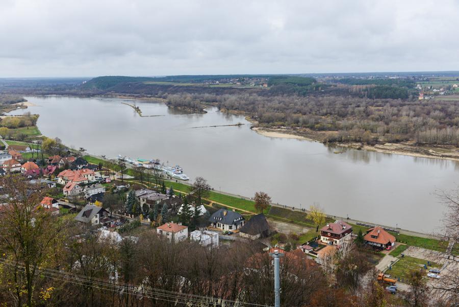 Kazimierz Dolny nadWisłą, widok narzekę spod Baszty