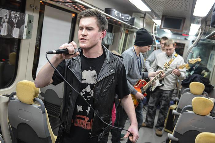 koncert rockowy wpociągu WOŚP