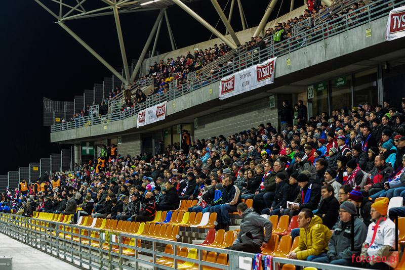 Stadion miejski Bielsko-Biała wtrakcie przebudowy