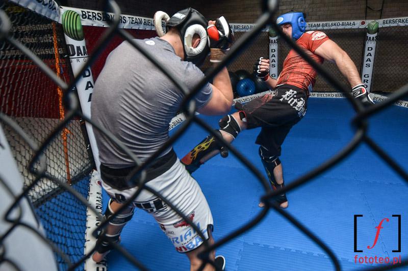Trening MMA, fotograf sport