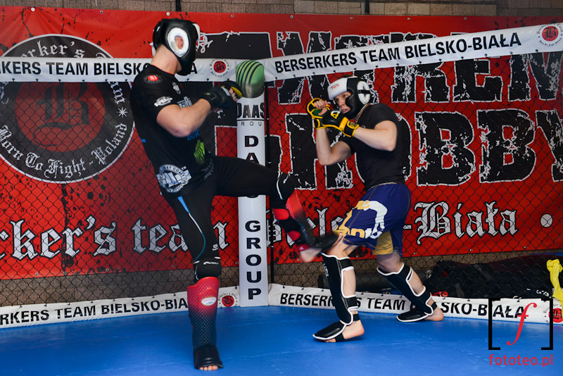 Trening MMA Marcina Helda zBerserkers Bielsko-Biała
