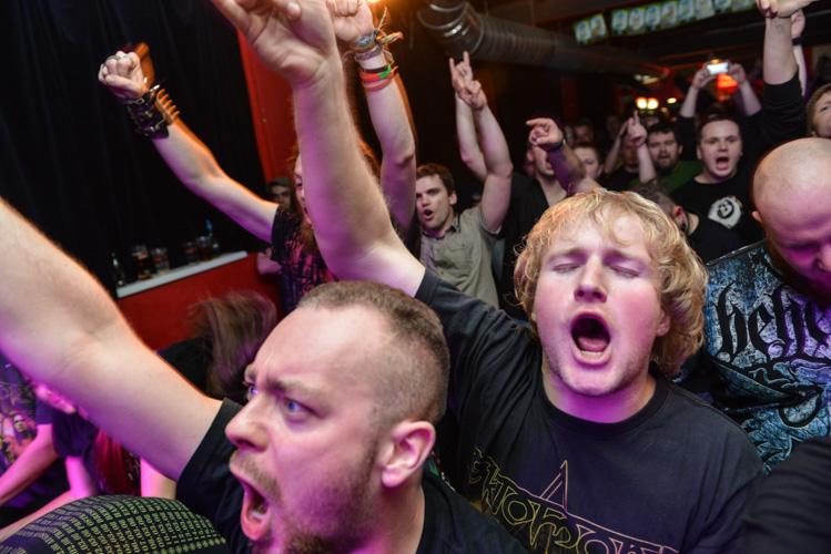 Mosh pit during metal gig