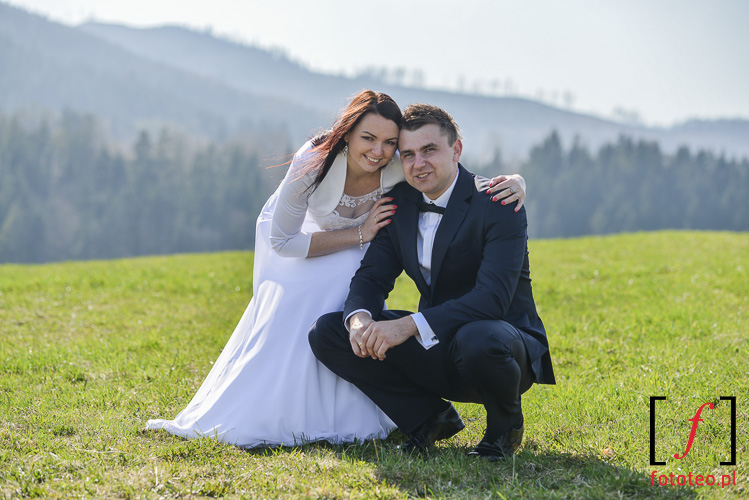 Fotograficzny plener ślubny w górach